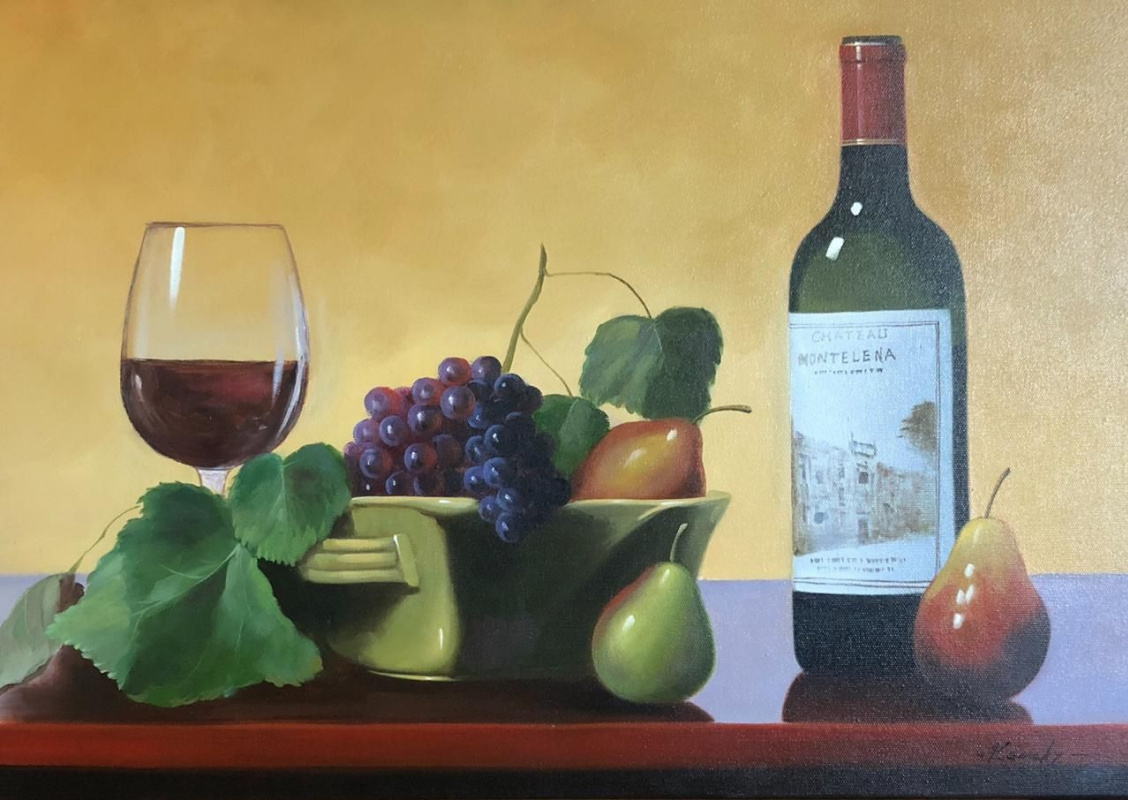 Savely Kamsky. Fruits and Californian wine Chateau Montelena