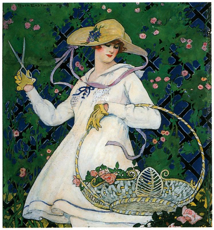 Рут Истман. Девушка с корзиной роз