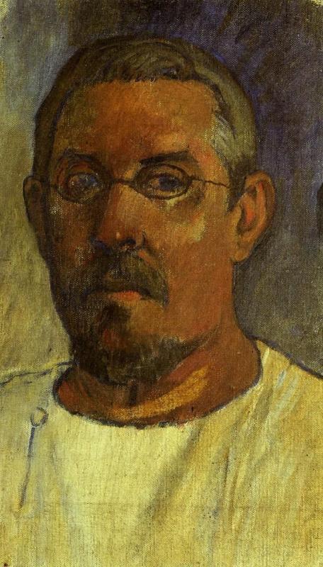Paul Gauguin. Self-portrait with glasses