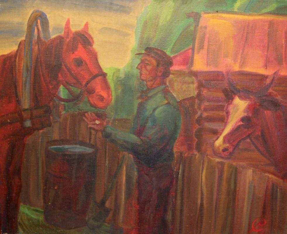 Yuri Ivanovich Surin. Country Yard