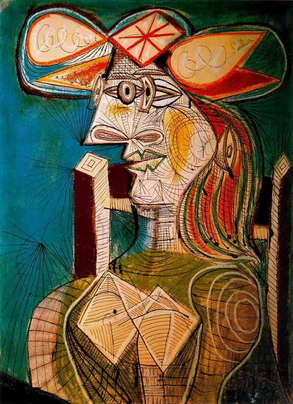 Пабло Пикассо. Сидящая женщина. Дора Маар