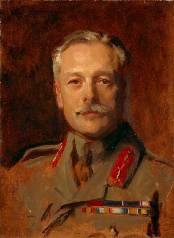 John Singer Sargent. Portrait of Douglas Haig, Earl Haig (study for the portrait of the officers of the First world war)