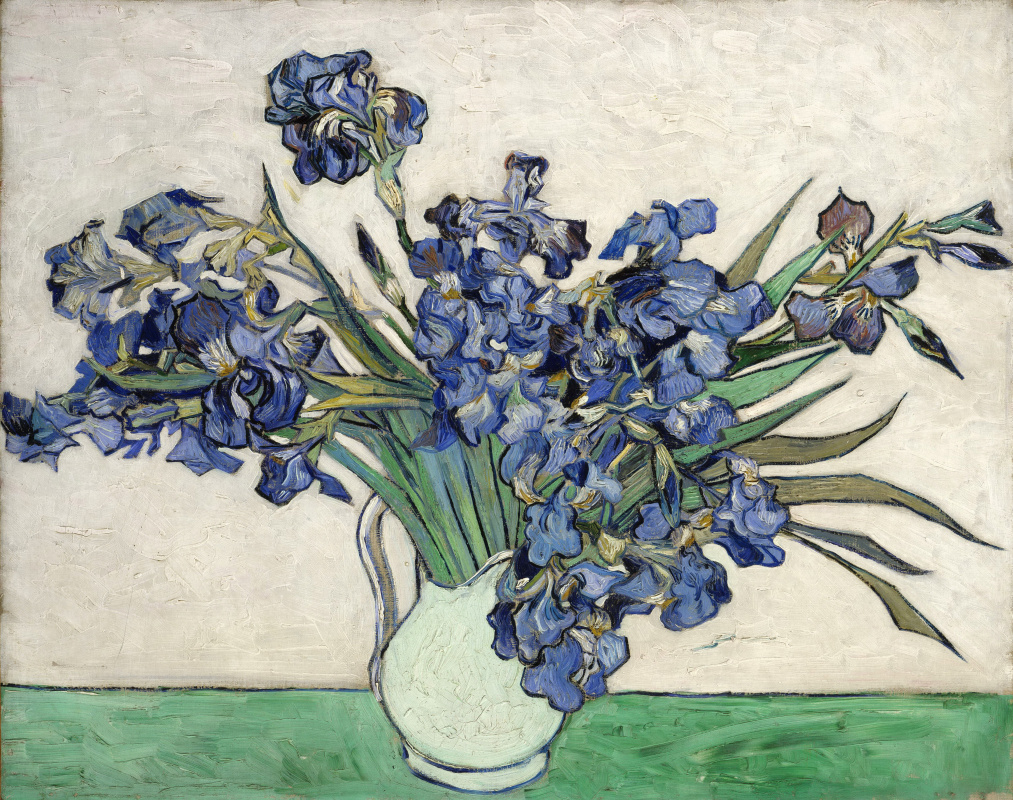 Vincent van Gogh. Irises in a vase