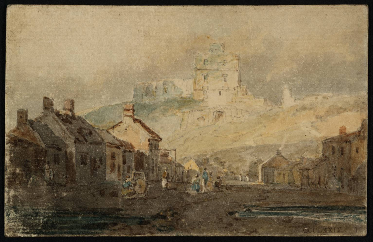 Joseph Mallord William Turner. NOREM village and castle