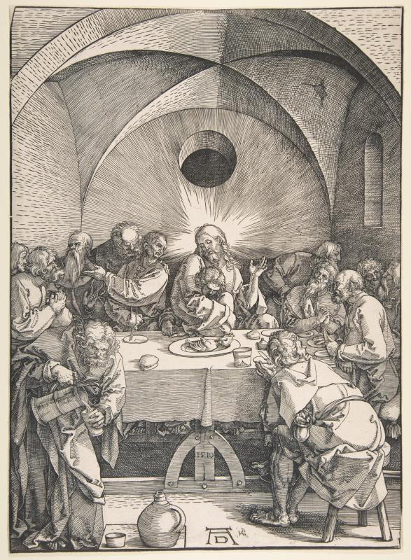 Альбрехт Дюрер. Тайная вечеря из серии «Страсти Христовы»