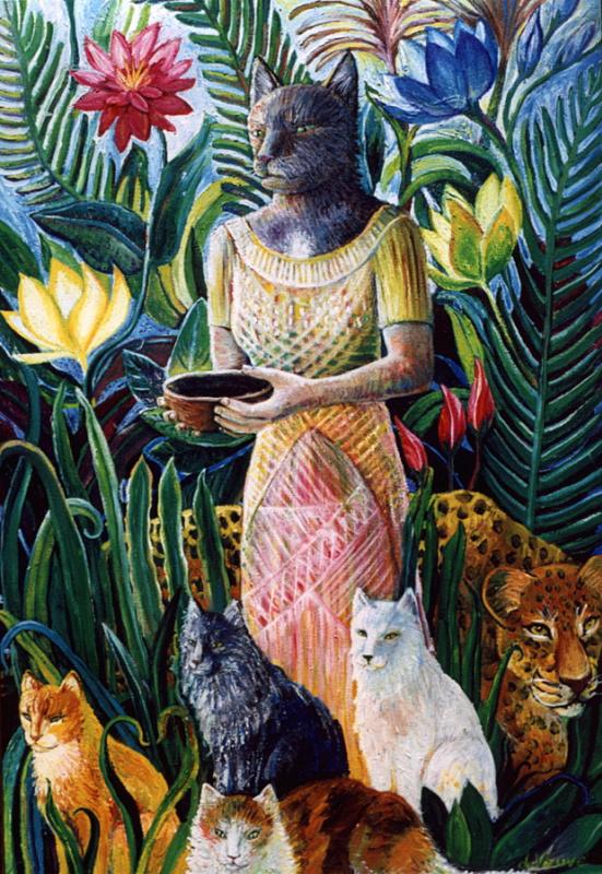 С Бастет Вдова. Женщина кошка