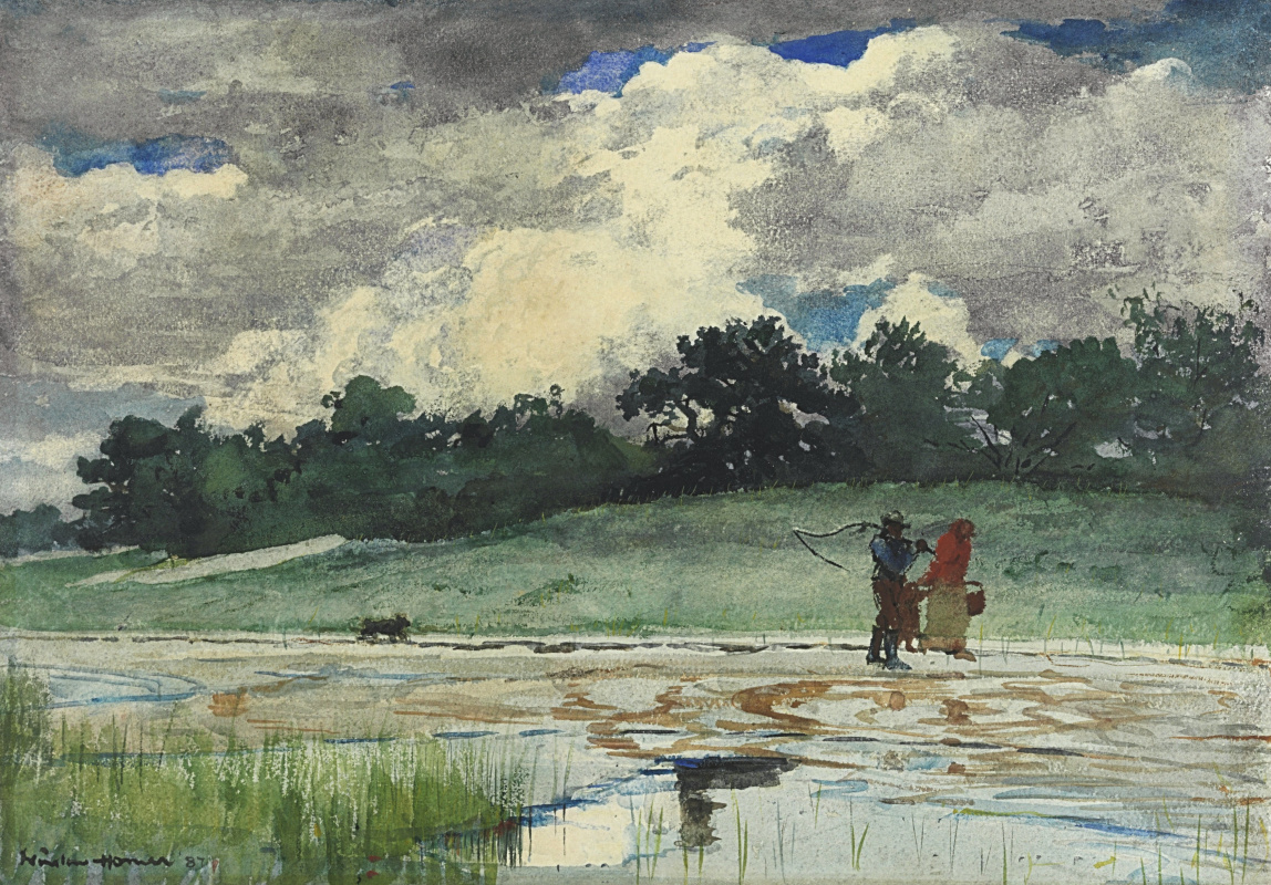 Winslow Homer. After the rain, Prouts Neck