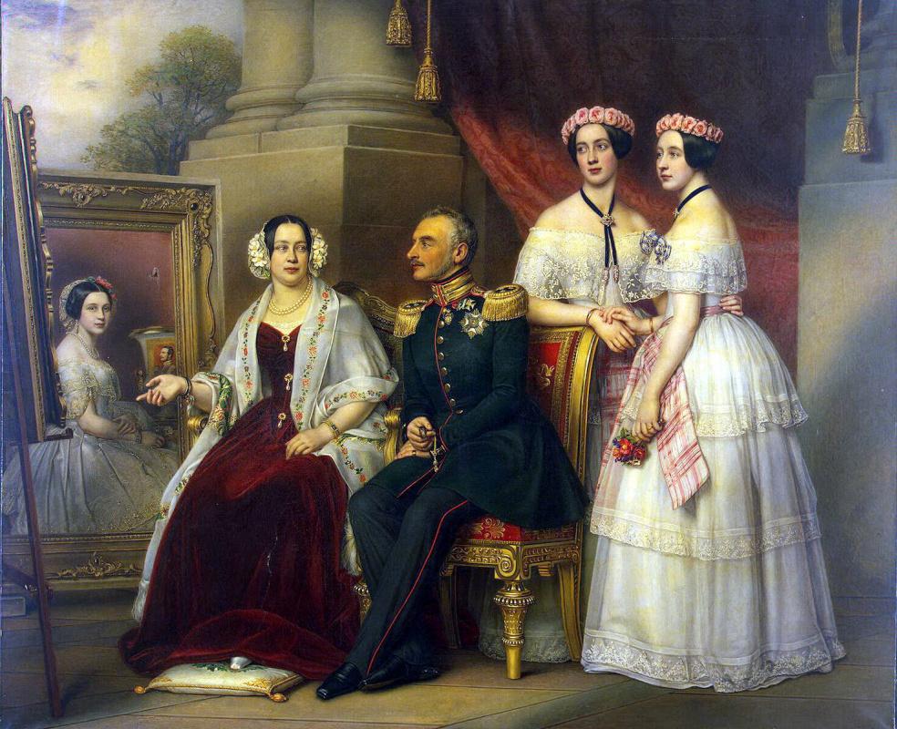 Йозеф Карл Штилер. Групповой портрет семьи герцога Йозефа Саксен-Алтенбургского