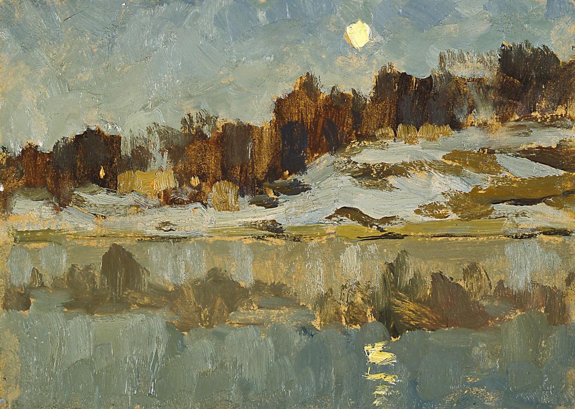 Исаак Ильич Левитан. Пейзаж с луной