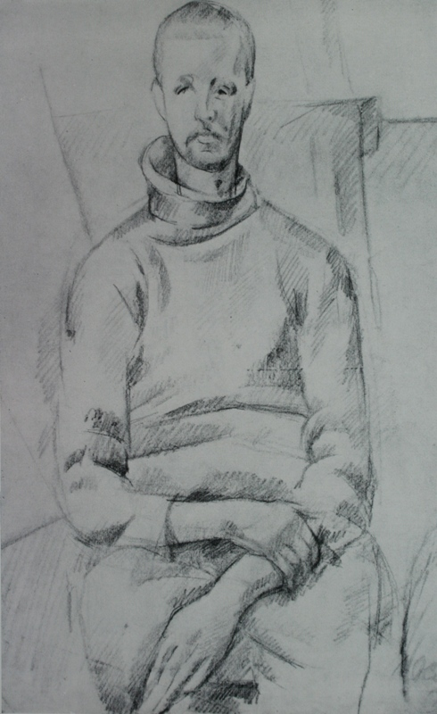 Alexander Alexandrovich Osmyorkin. Young man in a sweater. State Russian Museum.