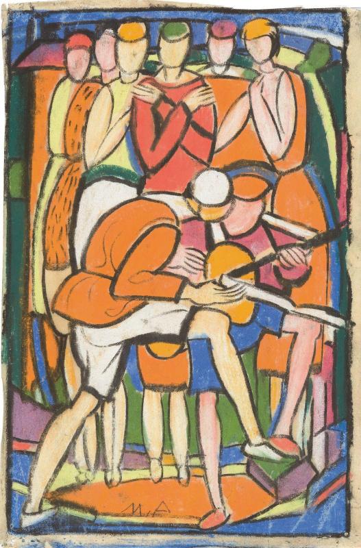 Бальтюс (Бальтазар Клоссовски де Рола). Эскиз для театральной постановки в Ле-Бурже