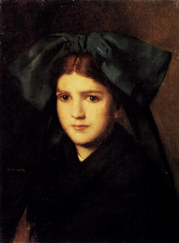 Жан-Жак Эннер. Портрет молодой девушки