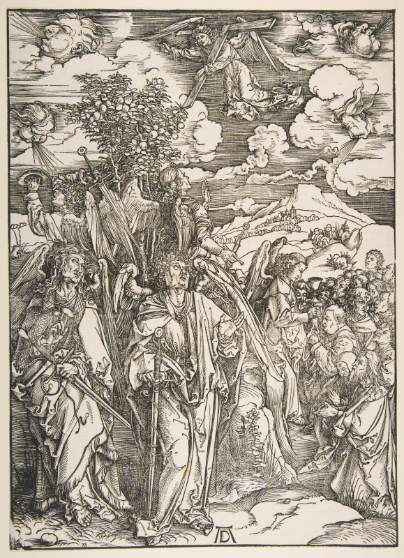 Albrecht Durer. Angels holding the four winds