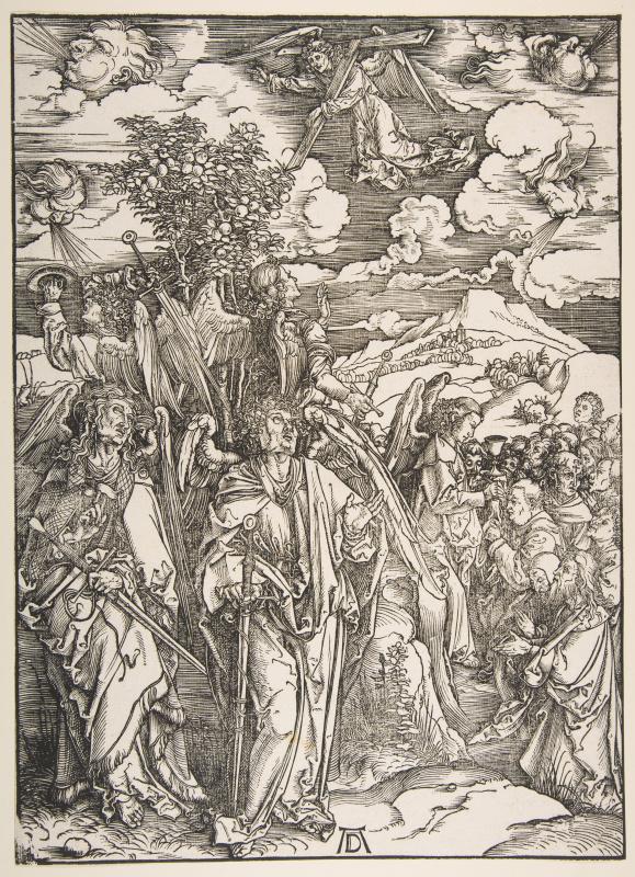 Albrecht Durer. Angels holding the four winds