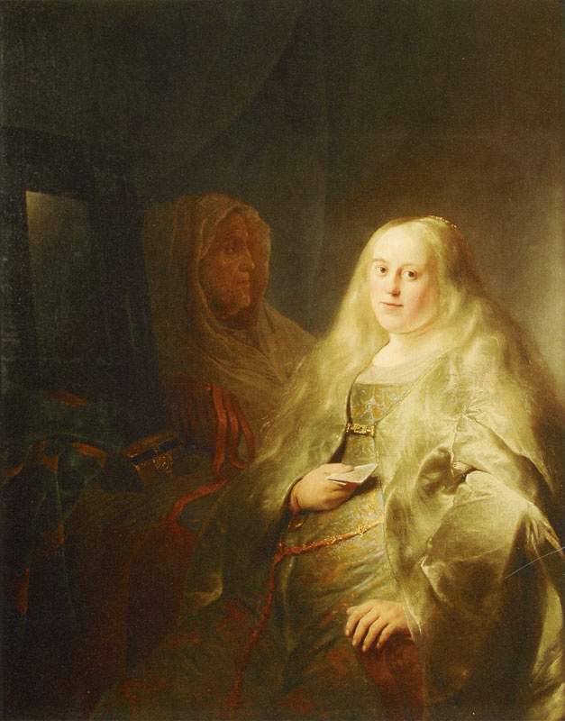 Jan Lievens. Bathsheba receives a letter from king David