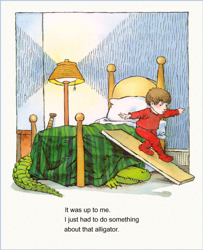Иллюстрация к книге Там крокодил под моей кроватью 08