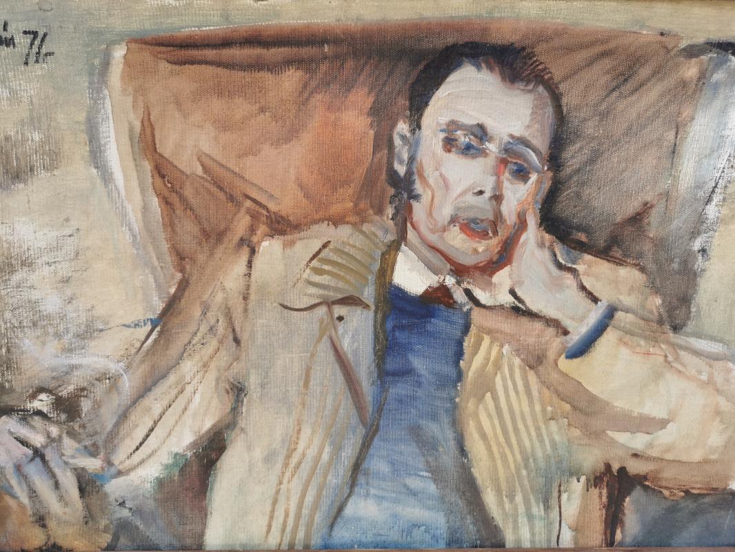 I. Zborsky. Portrait of architect I. Bryukhnevich
