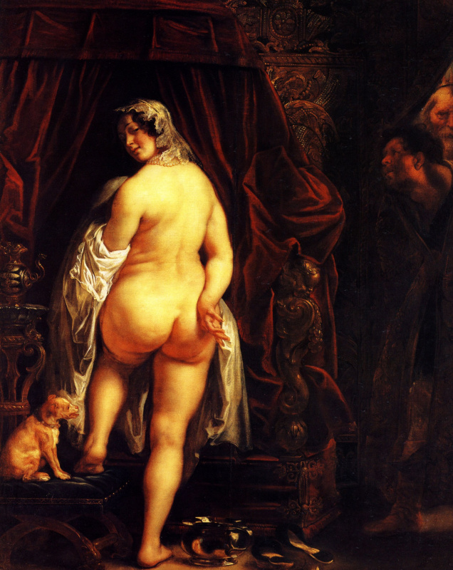 Jakob Jordaens. Kandall shows his wife to Gyges