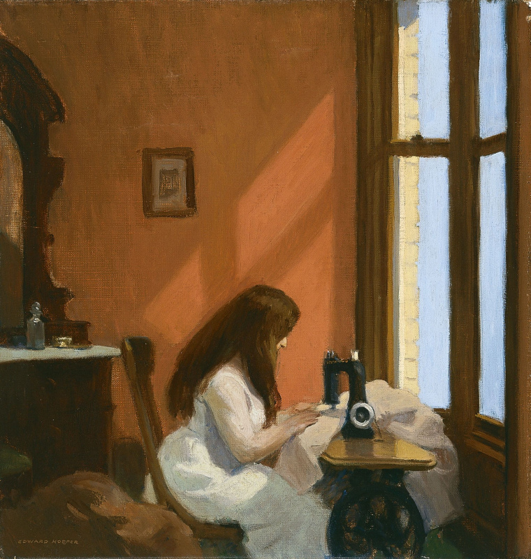 Edward Hopper. The girl behind the sewing machine