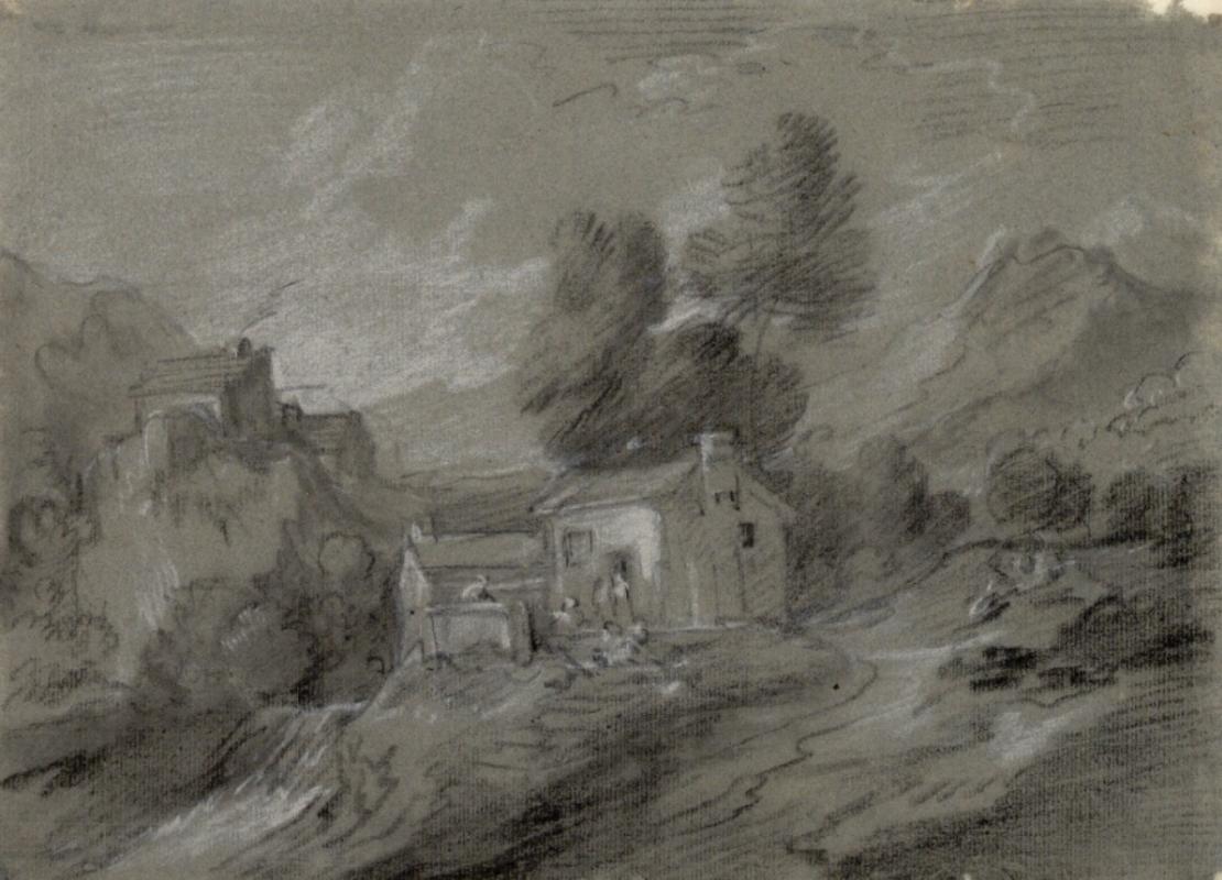 Thomas Gainsborough. Farm house by the river