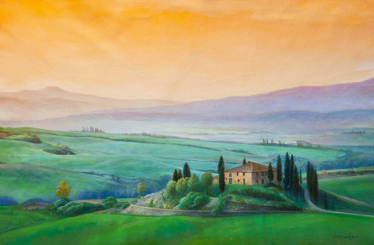 Савелий Камский. Вечерняя Тоскана
