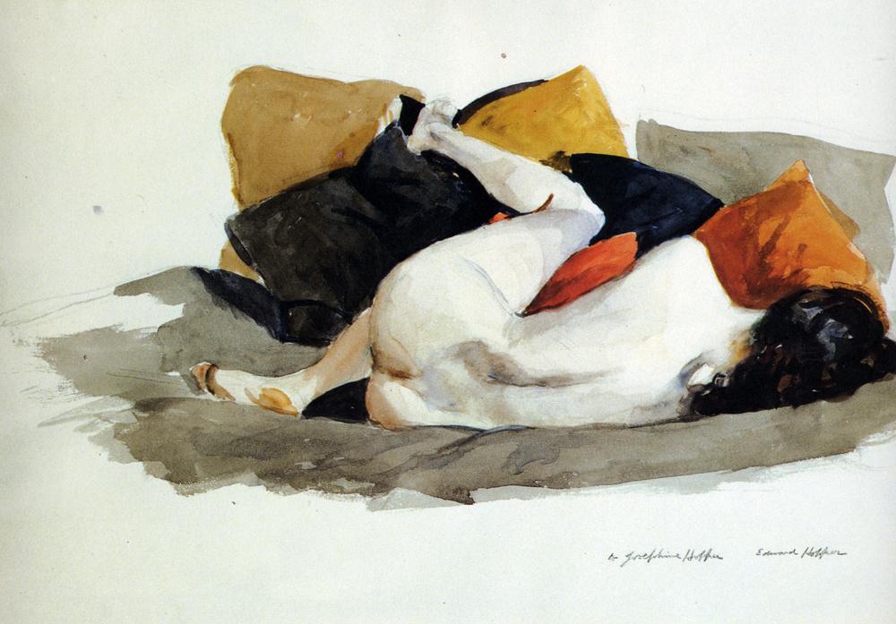 Edward Hopper. Reclining Nude