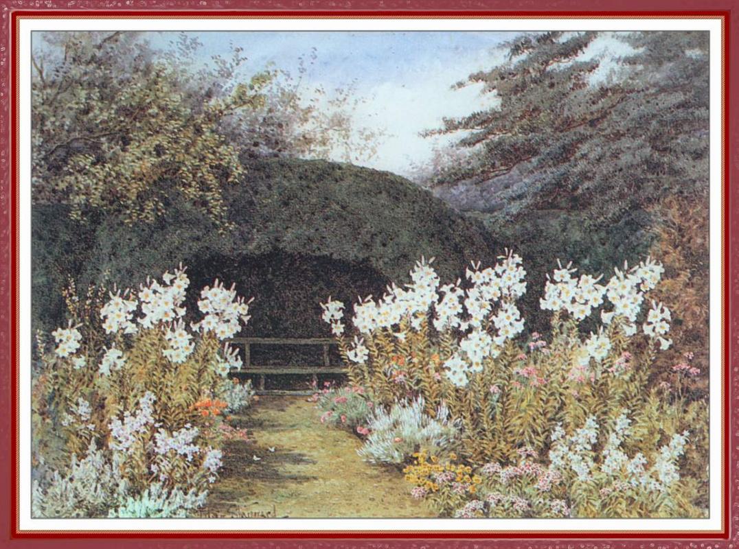 Lillian Stannard. White lilies