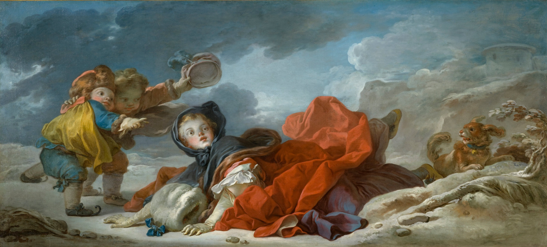 Jean-Honore Fragonard. Winter