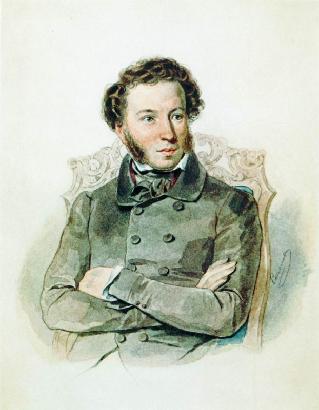 Peter Fedorovich Sokolov. Portrait Of A. S. Pushkin. 1836
