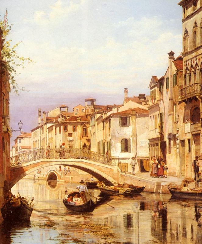 Антониетта Брандейс. Гондола на венецианском канале