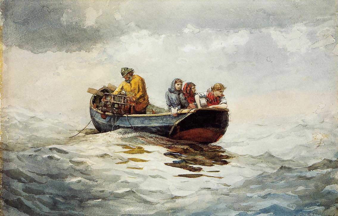 Winslow Homer. Catching crabs