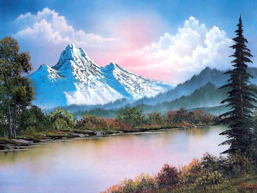 Mountain range by bob ross history analysis facts bob ross mountain range voltagebd Choice Image