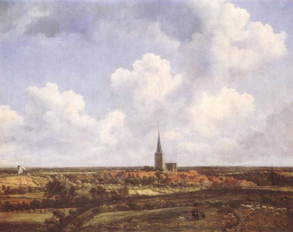 Якоб Исаакс ван Рейсдал. Пейзаж с церковью