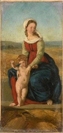 Eugene Delacroix. The virgin harvest