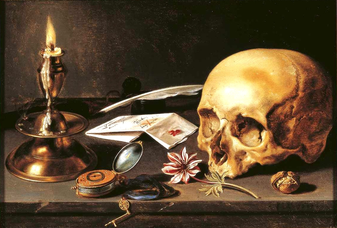 Pieter Claesz. Vanitas. Still life with skull and candle