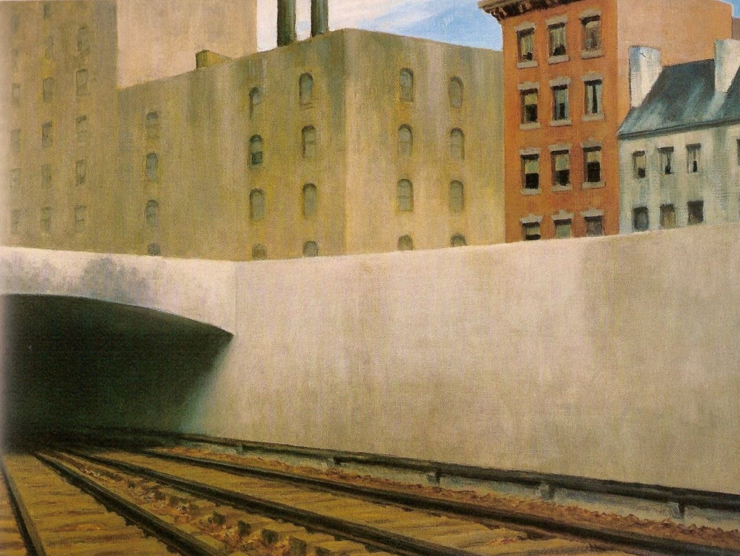 Edward Hopper. Approaching the city