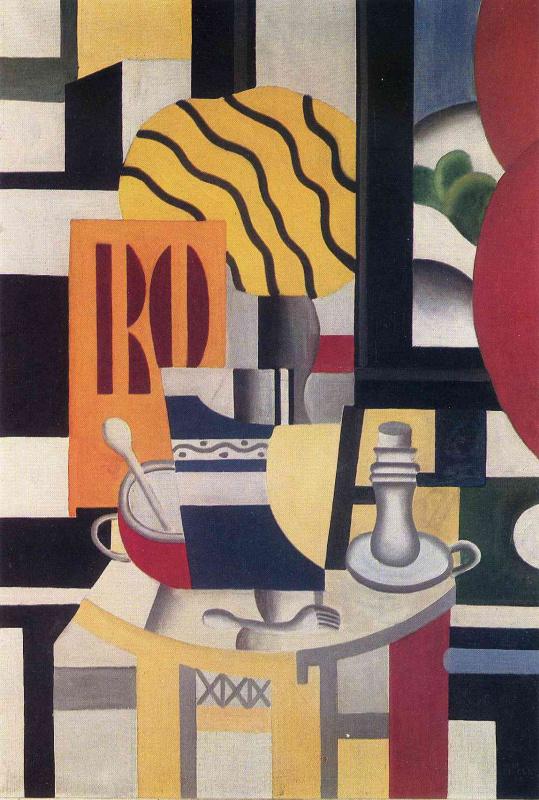 Fernand Leger. Still life with a candlestick