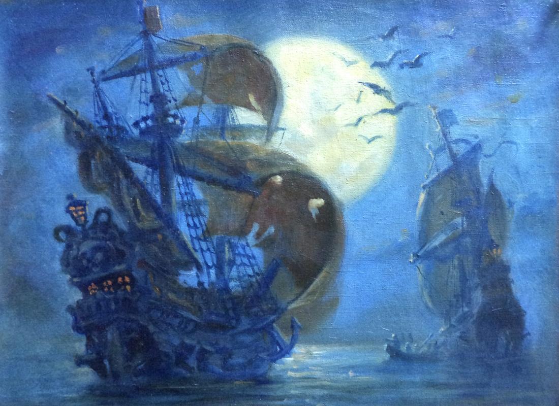 Daniil Litvinov. Корабли ночью