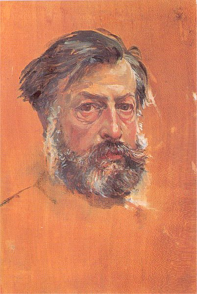 Жан-Луи-Эрнест Месонье. Портрет мужчины с бородой