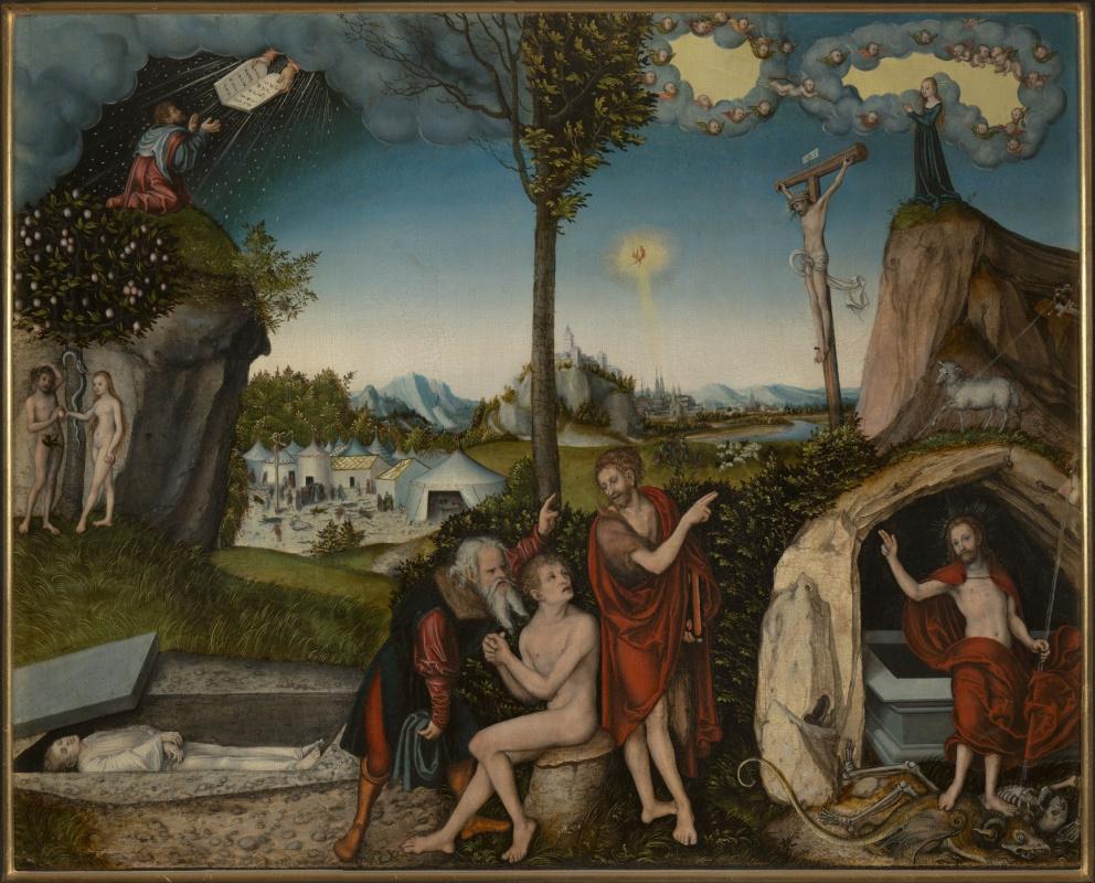 Лукас Кранах Старший. Закон и благодать (Закон и Евангелие)