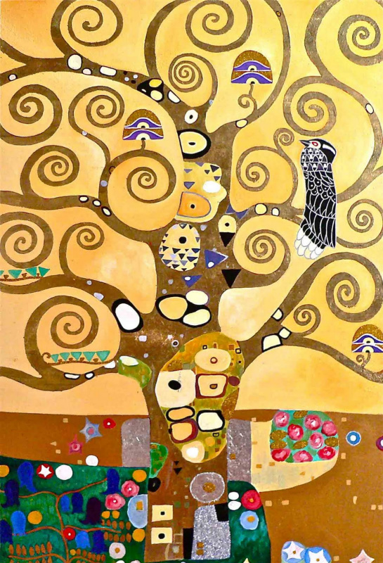 Gustav Klimt. Stoclet frieze. Tree. (fragment)