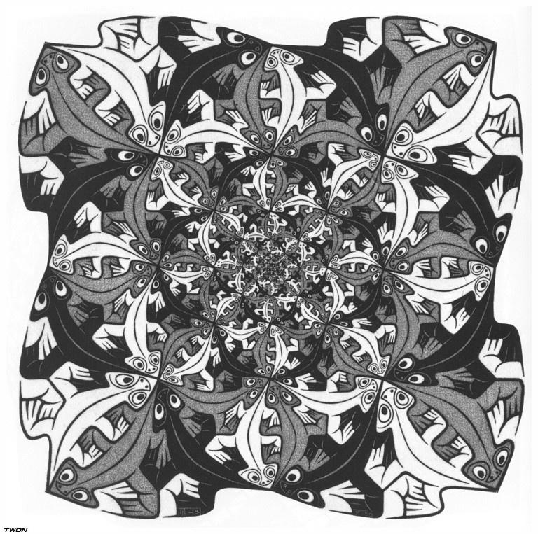 Мауриц Корнелис Эшер. Все меньше и меньше