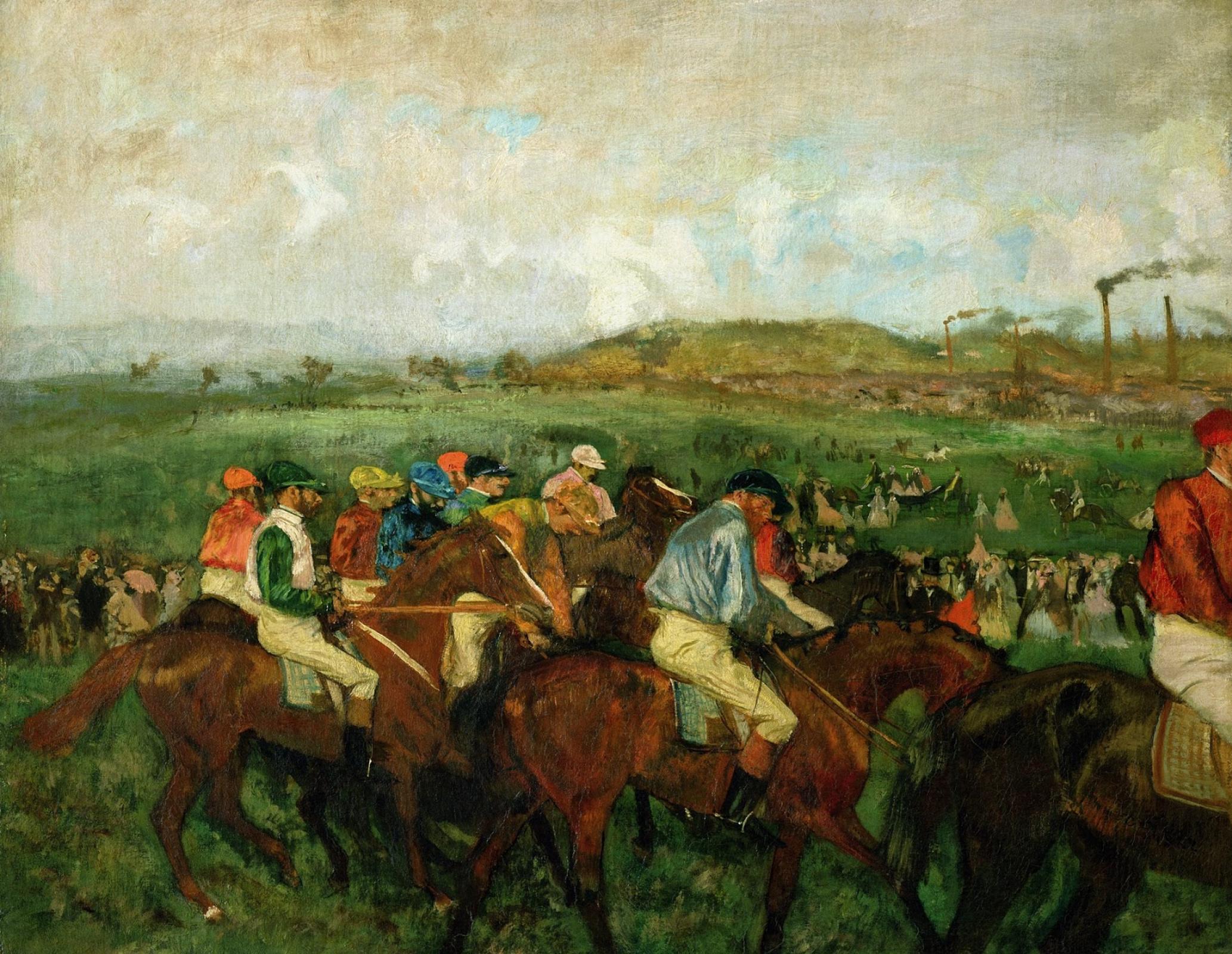Edgar Degas. Riders before the start
