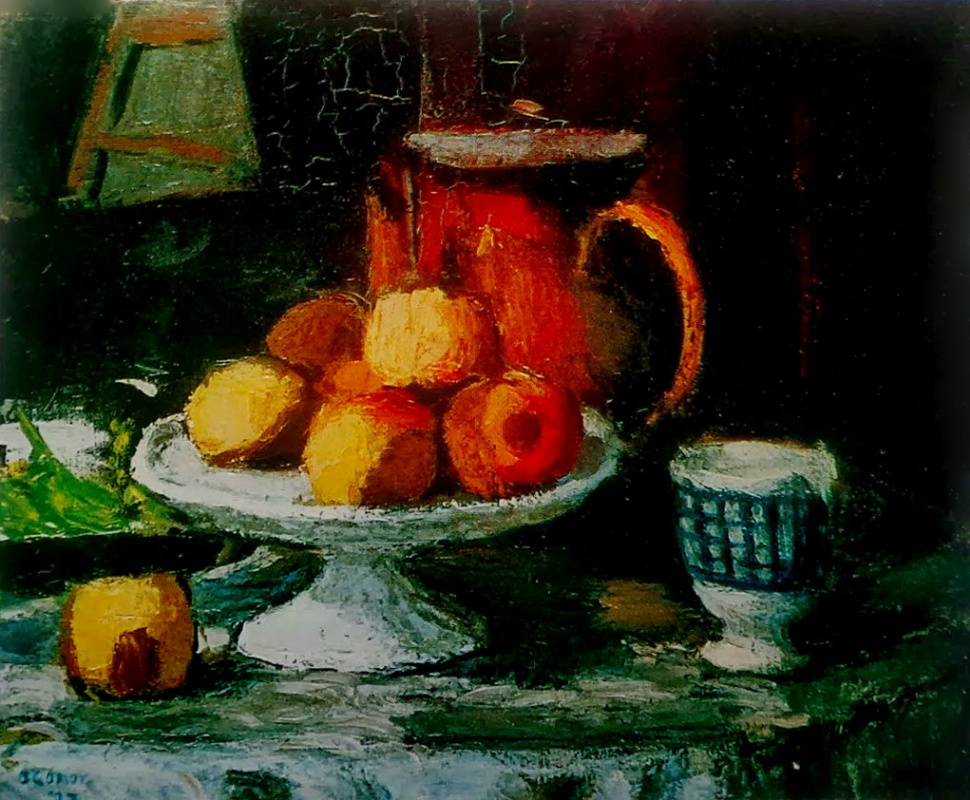 Roderick O'Conor. Still life with bowl of apples