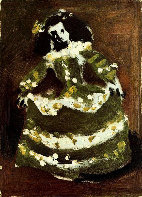 Пабло Пикассо. Девушка в зеленом платье