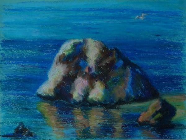 Larissa Lukaneva. Cyprus. Aphrodite's Rock.