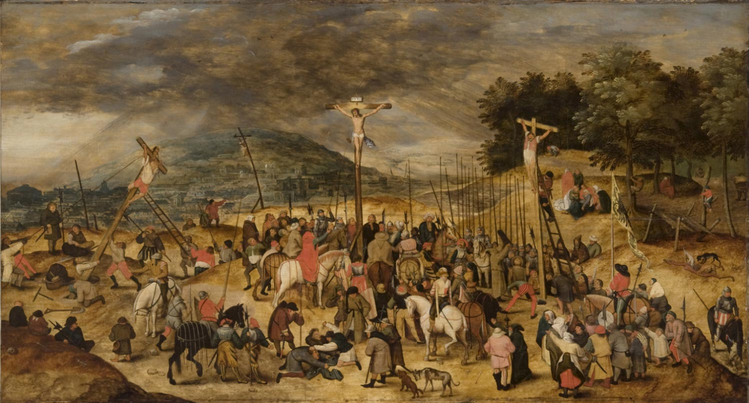 Peter Brueghel the Younger. Calvary. The crucifixion