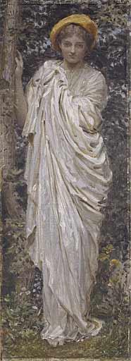 Альберт Джозеф Мур. Девушка у дерева