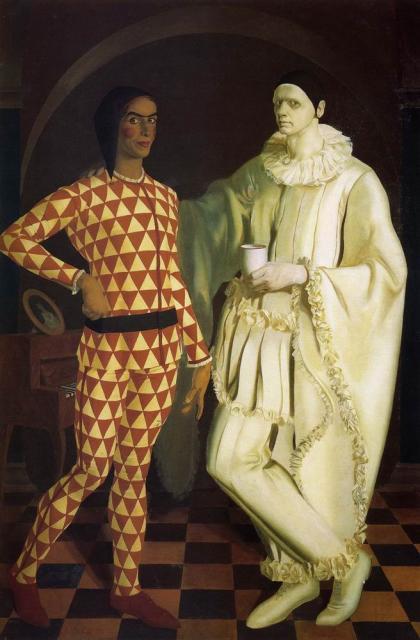 Alexander Yakovlev. Yakovlev, A. E. and Shukhaiev VI (harlequin and Pierrot)