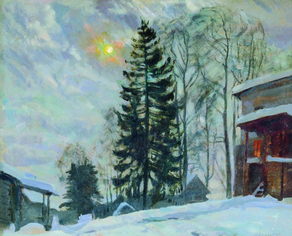 Станислав Юлианович Жуковский. Усадьба зимой